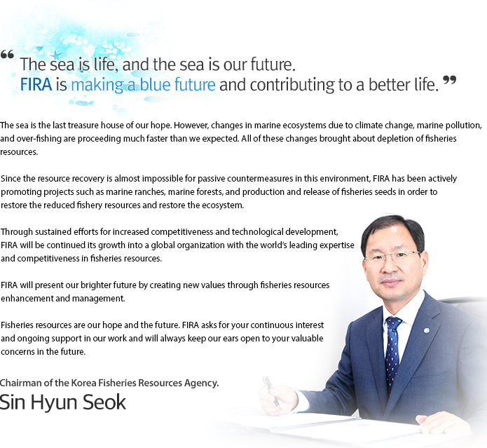 welcome to the korea fisheries Resources Agency