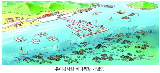 유어낚시형 바다목장 개념도